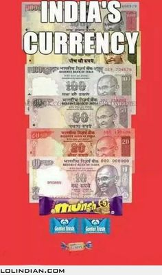 The official currencies of India includes these things too