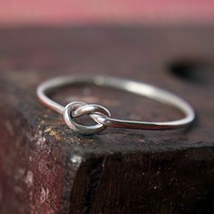 """Knotted ring - """"Help me tie the knot."""" - Must get these for my future bridesmaids!!! - $30.00"""