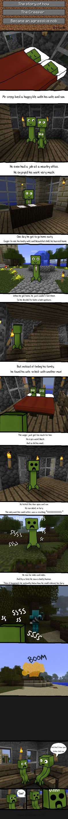 Minecraft Comic. Sad story :(