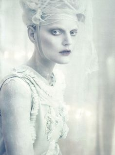 Guinevere van Seenus in A White Story by Paolo Roversi   Vogue Italia April 2010