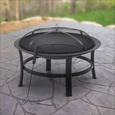 Outdoor Fire Pit Patio Heater Stainless Steel Fireplace ...
