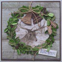 http://trijntjeskaarten.blogspot.nl/2016/12/kerstkrans-met-plaatje-van-een-hert.html