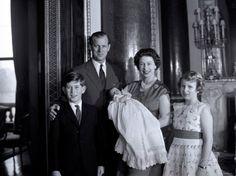 queen elizabeth ii and prince charles   Queen Elizabeth II with the Duke of Edinburgh, Prince Charles, Andrew ...