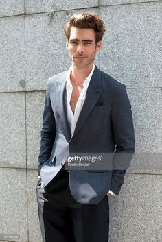 Model and actor Jon Kortajarena wearing Louis Vuitton on day 2 of Paris Collections: Men on June 26, 2014 in Paris, France.  (Photo by Kirstin Sinclair/Getty Images)