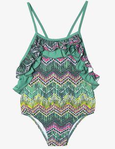 Bañador de estilo étnico Boho Shorts, Tankini, Kids Fashion, Ethnic Style, Birthday Gifts, Fashion For Girls, Thinking About You, Green, Beach