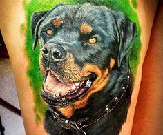 Dog tattoo portrait tattoo by Steve Butcher