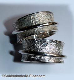 Goldschmiede Plaar in Osnabrück    -Rollringe Silber mit Brillant  -Silver Weddingrings with diamond