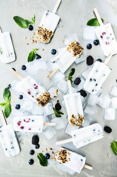 Berry Coconut Milk Popsicles