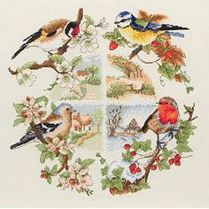 Dimensions Wreath For All Seasons - Cross Stitch Kit - 123Stitch.