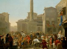Carnevale a Roma di Johannes Lingelbach, metà del XVII secolo [Kunsthistorisches Museum, Vienna]