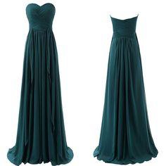 Teal Floor Length Chiffon Bridesmaid Dresses Pst0238 on Luulla
