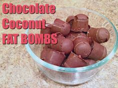 Coconut Oil Fat Bombs – The Coconut Mama