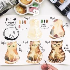Hi, time for my new tutorial - this is a cat 😻Yes, I have chosen cat this time but I noted all your wishes about step-by-step ideas and I…