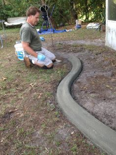 Make custom concrete curbing yourself and save. Our custom troweling tool and expert instructions allow you to curb it yourself and save a ton of money. Easy to use and better than traditional do it yourself landscape boarders and edges. Your own custom curbs are as good as the pros, for a lot less money. Professional curbing can cost thousands of dollars Pavers and plastic edging dont hold up, bricks and precast boarders fall over and grass grows through it. CURB IT YOURSELF is the best…