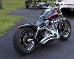 Michael's 2009 Harley Davidson Fat Bob with the extended version of our Voodoo Fender. | Rocket Bobs