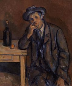 Paul Cézanne / The Drinker (Le Buveur) / 1898-1900 / oil on canvas
