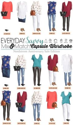 Check out this fun Nordstrom capsule wardrobe featuring items from the Nordstrom Anniversary Sale. Includes outfits to wear in the summer & fall! collection, style