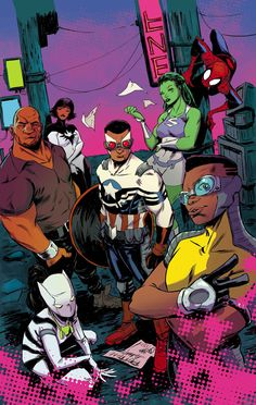 Power Man (Victor Alvarez) created by comic writer Fred Van Lente & artist Mahmud A. Asrar. Victor is one of the few Afro-Latino characters in mainstream comics and is of Afro-Dominican descent.