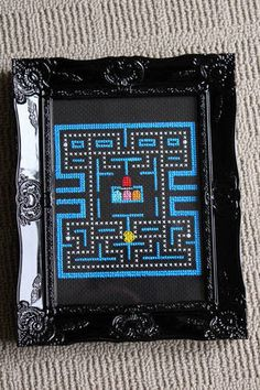 Pacman cross stitch- WOW!  I do NOT have the patience to make that...but I love it!