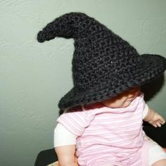 Crochet Witch Hat - can be made sizes newborn to adult | BabysKeepsakeTreasures - Crochet on ArtFire
