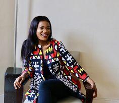Sila Ankara Jacket. Available to buy on www.waafashion.com Ankara Jackets, Summer Looks, African Fashion, Kimono Top, Sari, Stuff To Buy, Color, Shopping, Clothes