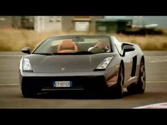video of Lamborghini Gallardo Spyder Review - Top Gear - BBC. lamborghini. grey with orange black and silver interior