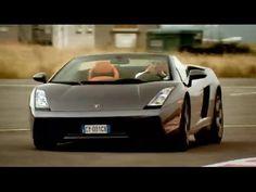 video of Lamborghini Gallardo Spyder Review - Top Gear - BBC. lamborghini. grey with orange black and silver interior