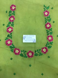 Embroidery Works, Hand Embroidery Designs, Embroidery Patterns, Embroidery Suits, Simple Blouse Designs, Saree Blouse Neck Designs, Blouse Patterns, Chudidhar Neck Designs, Dress Neck Designs