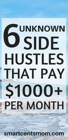 These side hustles earn 1000 dollars per month or more! These would be great work at home jobs for moms. Who wants to make money from home with a side hustle? via @https://www.pinterest.com/smartcents/