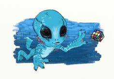 """""""Baby Abe"""" -- I know the backstory for Abe Sapien doesn't jive with this, but I couldn't resist :-D"""
