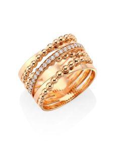 Hueb K Rose Gold Bubbles Ring