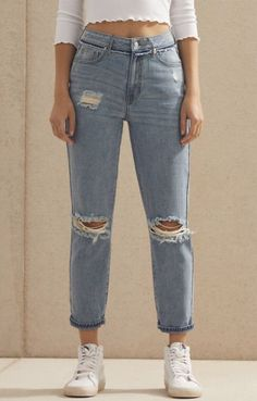343ae0d23f1b Create a classic rocker look with the Naomi Mom Jeans by PacSun. Crafted  from a durable rigid fabric, these mom jeans boast a high-rise fit, ...