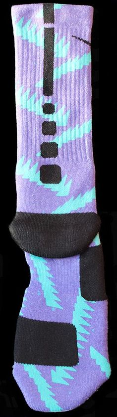 Authentic Nike Elite socks ~The Grapes~ Customized just for you by our artists here at The Sickest Socks.