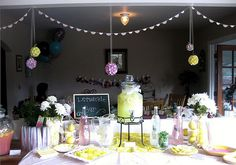 cute pink and yellow lemonade party