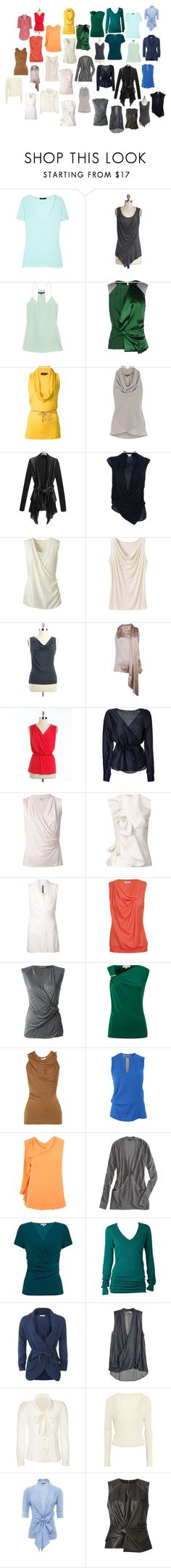 Bright Spring Soft Dramatic tops? by ketutar on Polyvore featuring RED Valentino, Maison Margiela, American Eagle Outfitters, Only Limitless, Roksanda Ilincic, Kaliko, Alexander McQueen, Bassike, Viktor & Rolf and Rick Owens Lilies
