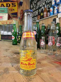Vintage White Rock soda bottle full