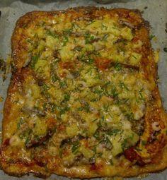 Vähähiilihydraattinen pitsa - Kotikokki.net - reseptit Quiche, Food And Drink, Low Carb, Keto, Breakfast, Sweet, Cakes, Diy, Morning Coffee