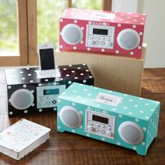 PB Teen: Dotttie clock& alarm My daughter has it in black and goes great with her pink Black polka dot bedding