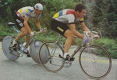 TROFEO BARACCHI winners 1984 Hinault with FRANCESCO MOSER winners