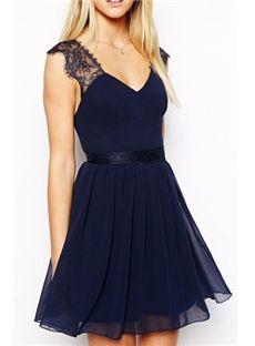 2014 Sexy Sweetheart Backless Lace Chiffon Dress