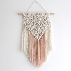 Lace Effect Macrame Wall Hanging Notonthehighst