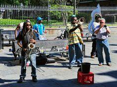 Street musicians, Jackson Square