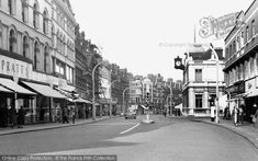 Old photo of High Road Streatham. I remember watching my Mother shopping at the haberdashery counter in Pratts in the early Uk Photos, London Photos, London History, British History, Vintage London, Old London, High Road, Croydon, South London