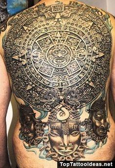 Full Back Aztec Tattoo