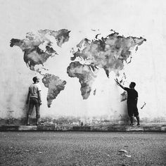 Image de world, art, and black and white