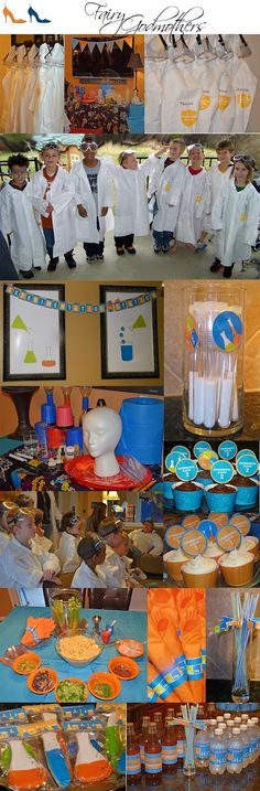 Mad scientist party inspiration board