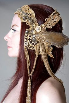 gold headdress- Medina Maitreya  model- Kimberly Mackoy  Photography- Kristine Adams