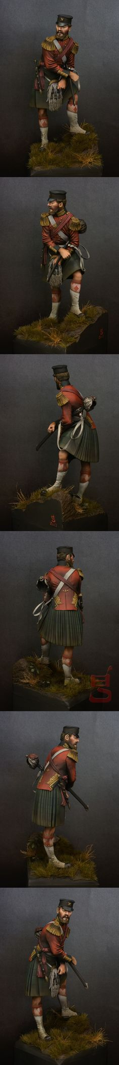 Completed - Officer, 42nd black watch, crimea 1854 | planetFigure | Miniatures