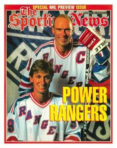 New York Rangers Wayne Gretzky and Mark Messier - October 14, 1996