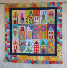 house quilt.  Love the colors.